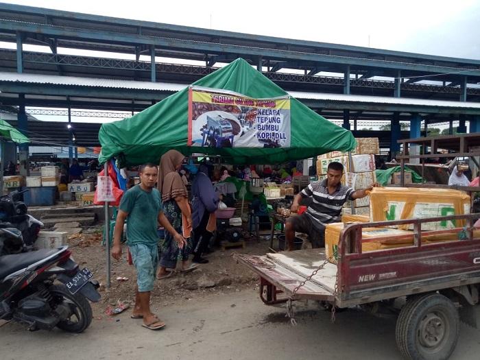 Lokasi penangkapan terduga teroris di Kota Bima. (Ikbal/Ntb News)
