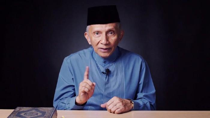 Pendiri Partai Ummat sekaligus anggota Tim Pengawal Peristiwa Pembunuhan (TP3) Enam Laskar, Amien Rais. (Detikcom)