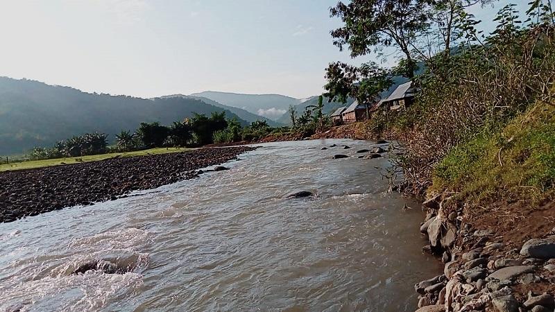 Potret sungai yang berada di wilayah Desa Ncera, Kecamatan Belo, Kabupaten Bima. (Ntb News/Nur Hasanah)