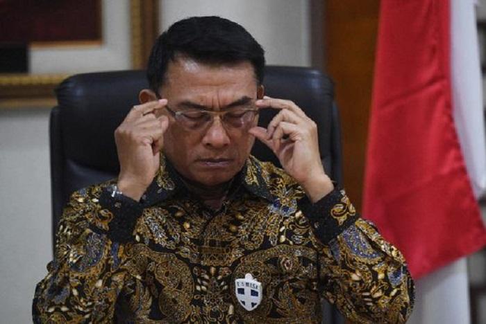 Ketua Umum Demokrat versi KLB Deli Serdang, Moeldoko. (CNN Indonesia)