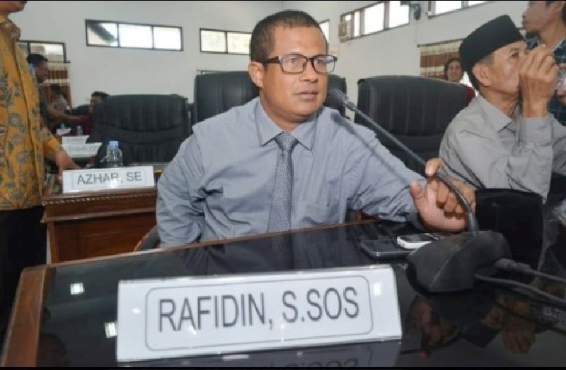 Anggota Komisi I DPRD Kabupaten Bima, Rafidin. (Istimewa)