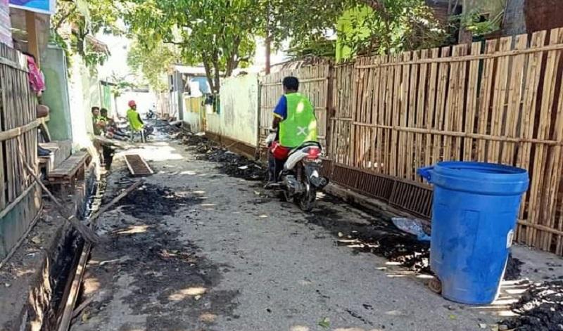 Potret pelaksanaan program Korkot di Kelurahan Nae. (Istimewa)