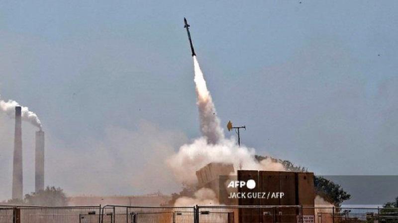Peluncuran rudal Hamas di Jalur Gaza. (AFP)